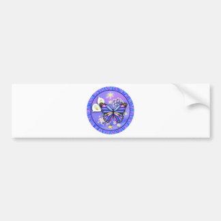 Butterly及びCalleユリ-紫色 バンパーステッカー