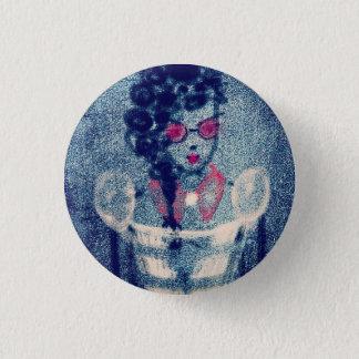 Button豪華な女性 3.2cm 丸型バッジ