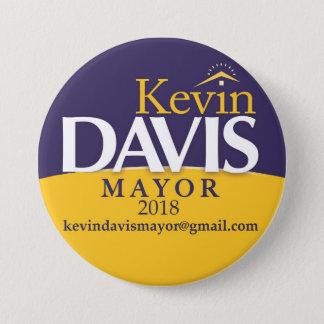 Button Election Politicsキャンペーン市長 7.6cm 丸型バッジ