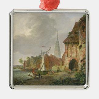 Buxtehude 1830年の3月のゲート メタルオーナメント