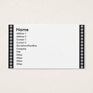 BWのフィルム、ビーズ、写真 名刺