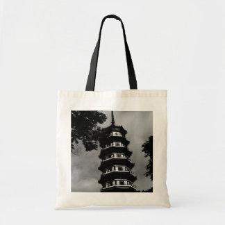 BWの中国のカントン花いっぱいの塔1970年 トートバッグ