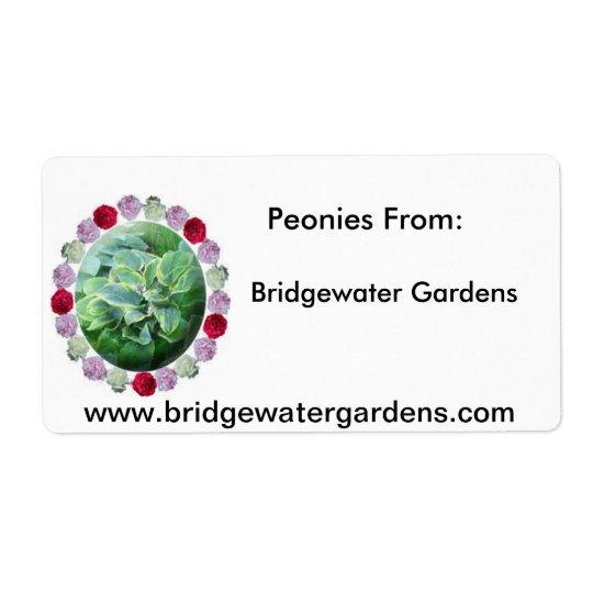 BWはロゴ、Bridgewaterの庭、シャクヤクF…庭いじりをします ラベル