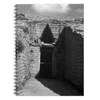BWギリシャアテネMycenae Agamemnonの墓1970年 ノートブック