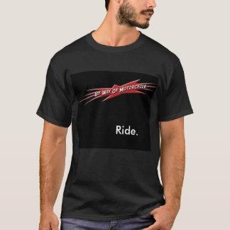 bwomの黒の乗車 tシャツ