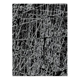 BWRGの白黒は逆のグランジな抽象芸術を傷付けます ポストカード