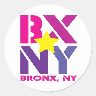 BXブロンクスのステッカー ラウンドシール