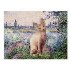 By the Seine - Cream Sphynx cat ポストカード