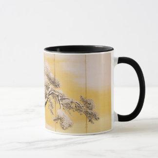 Byobu: 丸山町Ōkyo II著雪の松の木 マグカップ
