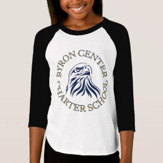 Byronの中心のチャーターの女の子3/4の袖のワイシャツ Tシャツ