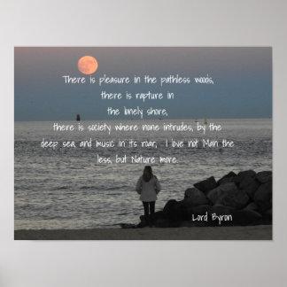 Byron -引用文主-芸術のプリント ポスター