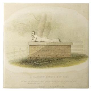 Byron (1788-1824年ハーロー校の男の子(1805年)の-主 タイル