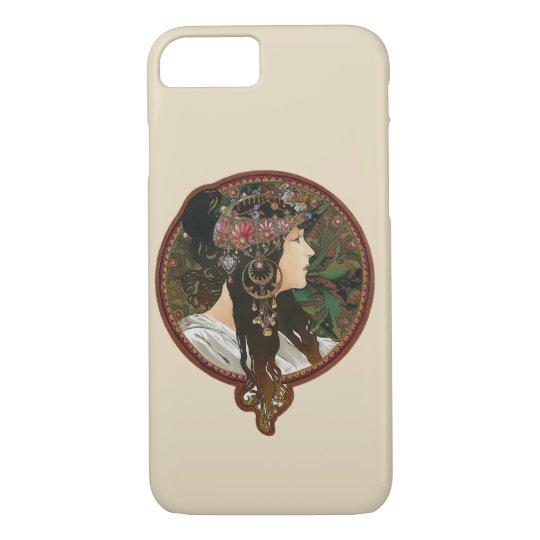 Byzantine Heads: Brunette , Alfons Mucha iPhone 8/7ケース