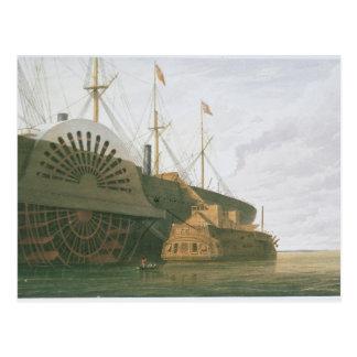 cの彼女の重量との古いフリゲート艦HMS Agamemnon ポストカード