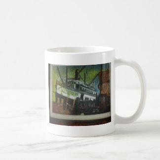 cの波止場の古い船 コーヒーマグカップ