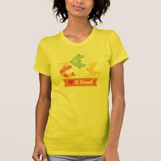 Cの食糧(シーフード)のかわいいそしておもしろいな漫画 Tシャツ