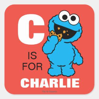 Cは|があなたの名前を加えるクッキーモンスターのためです スクエアシール