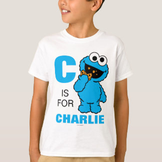 Cは|があなたの名前を加えるクッキーモンスターのためです Tシャツ