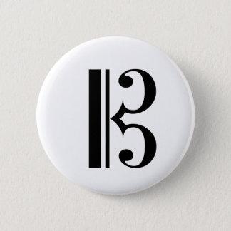 Cクレフ、音符記号ボタン 缶バッジ