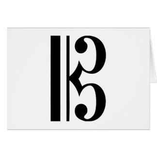 Cクレフ、音符記号音楽記号 カード