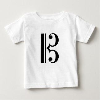 Cクレフ、音符記号 ベビーTシャツ