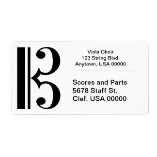 Cクレフ、音符記号 ラベル
