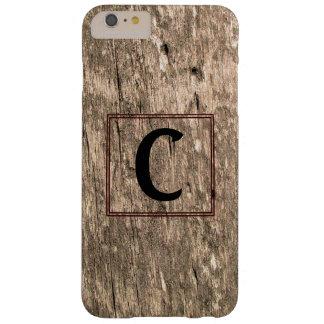 CモノグラムのBarnwoodのiPhone 6のプラスの場合 Barely There iPhone 6 Plus ケース
