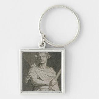 C.ローマのengraのガイウス・ユリウス・カエサル(100-44紀元前に)皇帝 キーホルダー