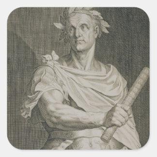 C.ローマのengraのガイウス・ユリウス・カエサル(100-44紀元前に)皇帝 スクエアシール
