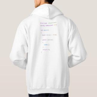 C++ 生きたおよびコーディングのフード付きスウェットシャツ パーカ