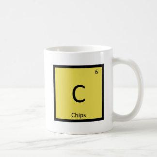 C -破片の軽食化学周期表の記号 コーヒーマグカップ