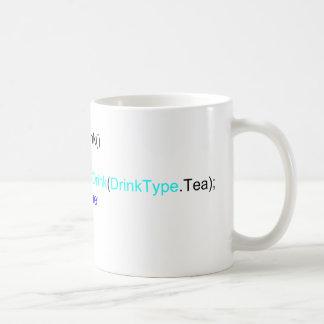 C#鋭いプログラマー茶マグ コーヒーマグカップ