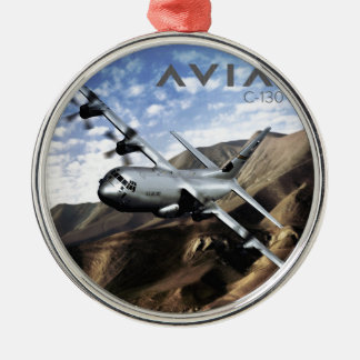 C-130ヘラクレスの軍隊の飛行機 メタルオーナメント