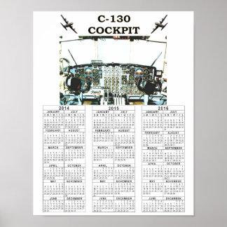 C-130操縦室 ポスター