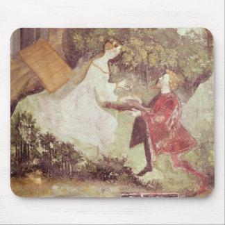 c.1400 7月のカップルの詳細、 マウスパッド