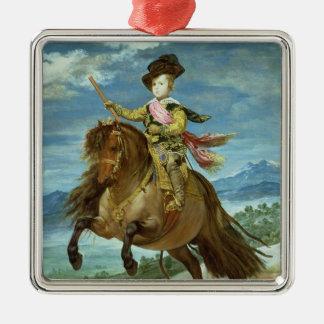 、c.1635-36馬上のバルタザールカーロス王子 メタルオーナメント