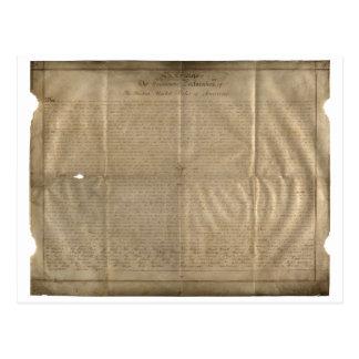 (c. 1780年)サセックスの独立宣言 はがき