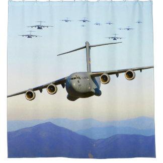 C-17 Globemaster IIIの軍用機 シャワーカーテン