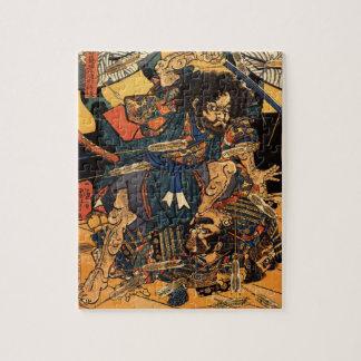 c.1800sを戦う武士の日本のな絵画 ジグソーパズル
