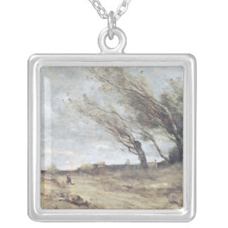 、c.1865-70突風 シルバープレートネックレス