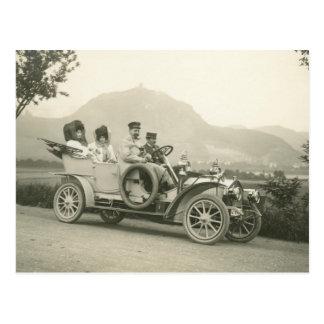c 1907年のツーリングカーかフェートン型オープンカー ポストカード