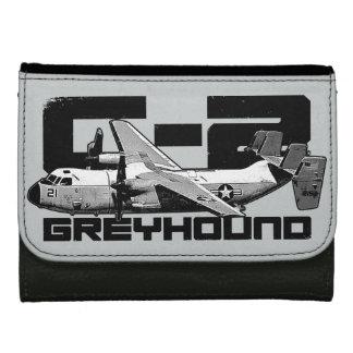C-2グレイハウンドの中型の革財布