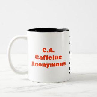 C.A. カフェインの匿名のマグ ツートーンマグカップ