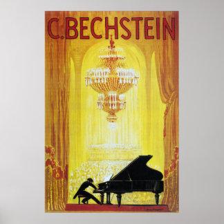 C. Bechstein Vintageのピアノ広告ポスター ポスター