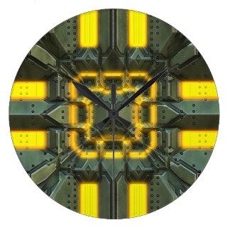C.C. 技術的な2つの柱時計及び数選択 ラージ壁時計
