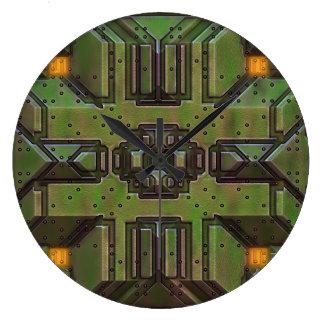 C.C. 技術的な6つの柱時計及び数選択 ラージ壁時計