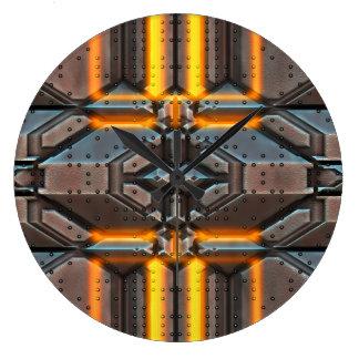 C.C. 技術的な8つの柱時計及び数選択 ラージ壁時計