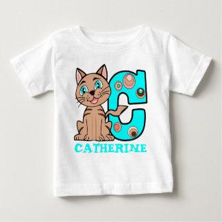 C CATのかわいい子ネコ ベビーTシャツ