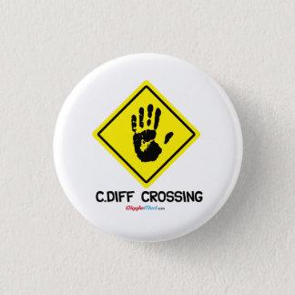C. Diff Crossingの印 3.2cm 丸型バッジ