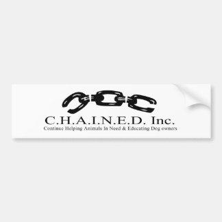C.H.A.I.N.E.D. 株式会社ロゴのバンパーステッカー バンパーステッカー